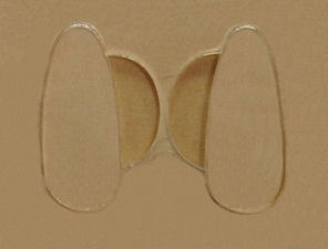 nose pads 17mm stick-on silicon 5 pair ()