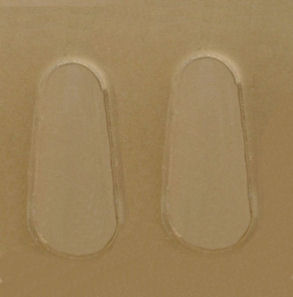 nose pads 19mm stick-on silicon 5 pair ()