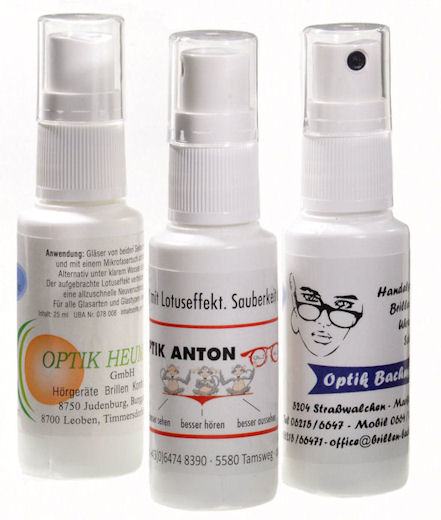 glassesspray Nanoclear with lotuseff. And prinz  25ml